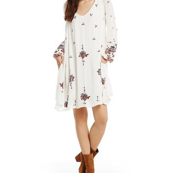 Free People Oxford Embroidered Swing Dress | Dillards