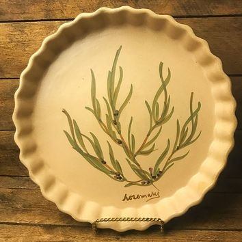Chatham Pottery Rosemary Pie Dish Made in USA
