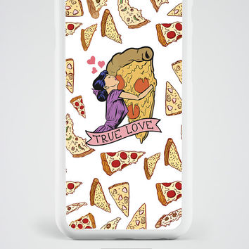 Pizza iPhone 6S Case, Pizza Tumblr iPhone 6 Plus 5S 5 4S 4 5C SE Case with True Love quote, Pizza Samsung Galaxy S6 S5 S4 Note 3 4 5 Case