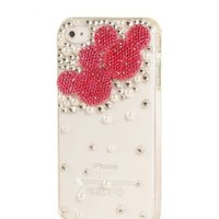 MoMo Store Luxury 3D pearl and Rhinestone Crystal Mickey mouse /Minnie Mouse protective hard case cover for Apple Iphone 4 & iphone 4S hot Pink(red) (US seller)