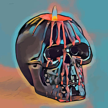 skull candle printable art abstract art printables day of the dead art printable skeleton images goth printable abstract pop wall art