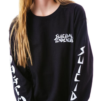 Suicidal Tendencies Suicidal Tendencies x Dog Town Longsleeve Black