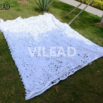 VILEAD 6M*6M Snow White Camo Netting Military Camo Netting Army Jungle Net Sun Shelter  for Hunting Camping Car Shelter Sunshade