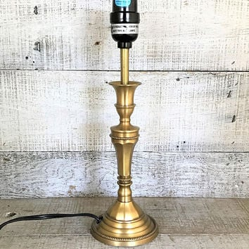 Lamp Brass Lamp Mid Century  Lamp Table Lamp Desk Lamp Antique Brass Light Gold Lamp Cottage Chic Lamp Hollywood Regency Lamp