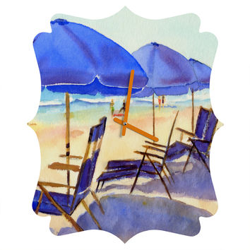 Laura Trevey Beach Chairs Quatrefoil Clock