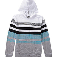 First Wave 8-20 Striped Hoodie - White