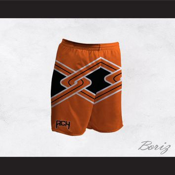 Rancho Carne High School Toros Male Cheerleader Orange Uniform Shorts