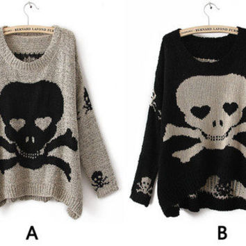 Skull Oversized Knit Sweater from Basiques Boutique