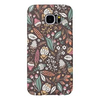 Pretty Vintage Floral Pattern Samsung Galaxy S6 Case