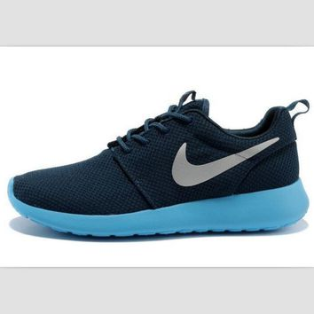 NIKE fashion network sports shoes casual shoes Dark blue sky blue