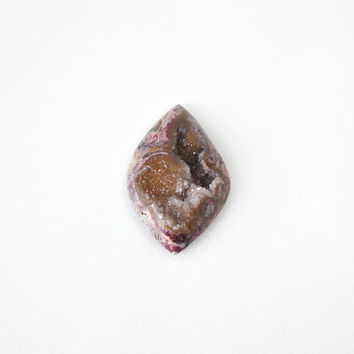 Big Druzy Stone in Brown Pink Geode Crystal, 32x48mm Gemstone Supply