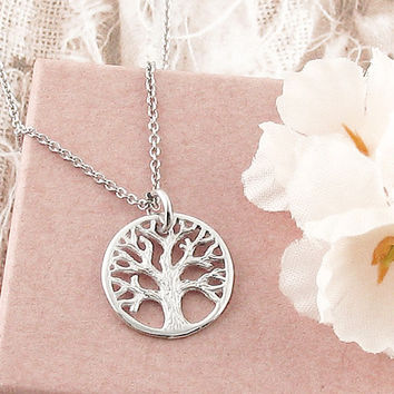 Tiny Tree of Life Medallion Necklace