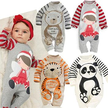 Baby Rompers Autumn Baby Girl Clothes Long Sleeve Animal Roupa Bebes Spring Baby Boy Clothing Sets Newborn Baby Clothes