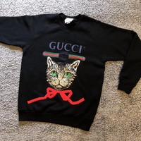 Gucci logo sweatshirt with Mystic Cat