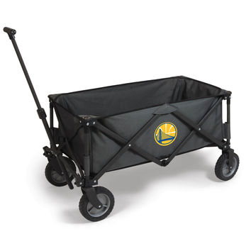 Golden State Warriors - 'Adventure Wagon' Folding Utility Wagon by Picnic Time (Dark Grey)