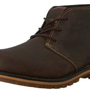 Timberland Men's Grantly Chukka Boot, Dark Brown Oiled Full Grain/Suede, 8.5 M US