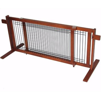 Freestanding Wood/Wire Pet Gate Large Span