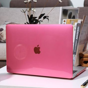 Crystal   Laptop Case Cover For MacBook Air Pro Retina 12 13 15 inch with Touch Bar For Mac Book