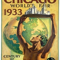1933 Santa Fe Chicago Worlds Fair by Hernando Villa Fine Art Print