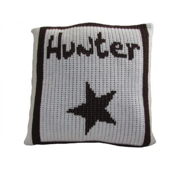 Single Star & Name Personalized Pillow