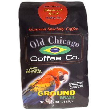 "Brazil ""Blackened Roast"" Dark Roast Coffee Ground by Old Chicago Coffee Co."