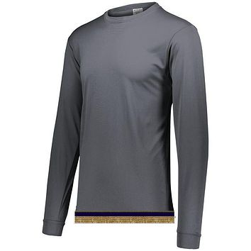 Charcoal Performance Long Sleeve T-shirt With Fringes