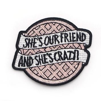 D0206 Stranger Things Iron on Patch Clothing diy Embroidered Sewing Applique Sew On Patches Fabric Apparel Patchwork