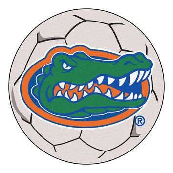Florida Gators NCAA Soccer Ball Round Floor Mat (29) Gator Head