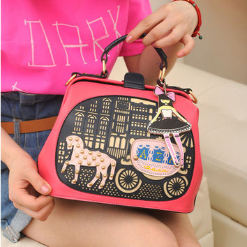 Summer Stylish England Style Vintage Hollow Out Princess One Shoulder Bags [6582665095]