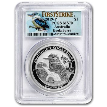 2019 Australia 1 oz Silver Kookaburra MS-70 PCGS (First Strike)