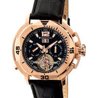Lennon Rose Gold & Black Dial Chronograph Watch
