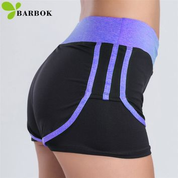 BARBOK Yoga Shorts Tight Sport Shorts for Women 3 Colors Sweat Proof Workout Sportswear Running Training Gym Fitness Cothing