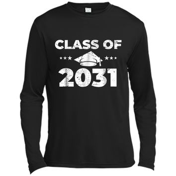 Class of 2031  Grow With Me First Day of School  Long Sleeve Moisture Absorbing Shirt