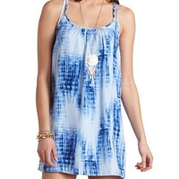 STRAPPY BACK TIE-DYE SHIFT DRESS