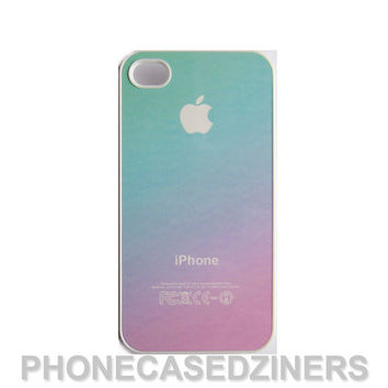 pastel ombre iPhone case iPhone 4s case iPhone 4 case iPhone 5 case Iphone 5s case pastel ombre pink and teal gradient