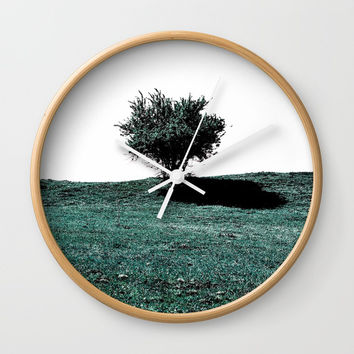 Tree On Hill Wall Clock by ARTbyJWP