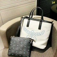 MCM New fashion letter print shoulder bag handbag two piece suit bag women 1#