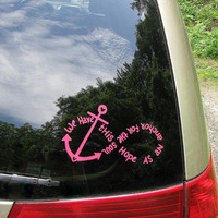 "We Have This Hope - Anchor/Infinity - Car Window Decal, Laptop Decal - Lettering is 6 "" W by 3 1/2"" H"