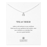 teacher teeny wishbone necklace, sterling silver - Dogeared