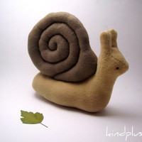 Snail Plushie Snail Stuffed Animal Plush Toy - Eduardo the Snail