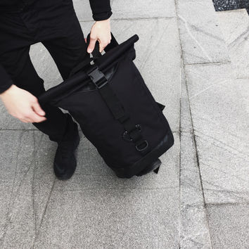 Rolltop Backpack, Black Backpack, City Bag, Laptop Backpack, Laptop Bag Men, Hipster Backpack, Carry All Bag, Cool Backpack, Mens Backpack