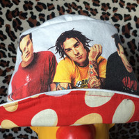 BLINK 182 Toddler Bucket Hat - Upcycled Rock/Concert T-shirt