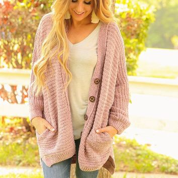 NECTAR CARDIGAN - LIGHT LILAC