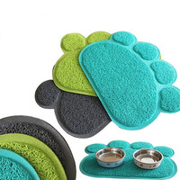 1 Pc Paw Shape Dog Placemat Puppy Pet Cat Dish Bowl Mats Food Water Mat Wipe Kitchen Tools = 5987787137