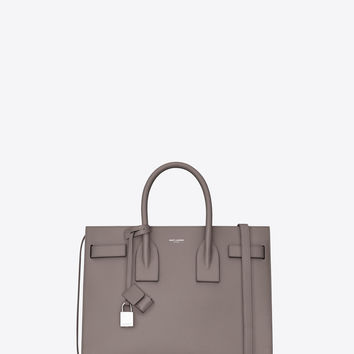 classic small sac de jour bag in fog grained leather