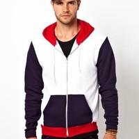 American Apparel | American Apparel Hoody With Block Sleeves at ASOS