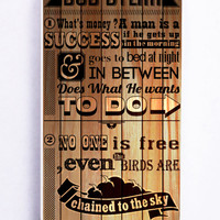 Bob Dylan Quotes On Wood for Iphone 5C Hard Cover Plastic