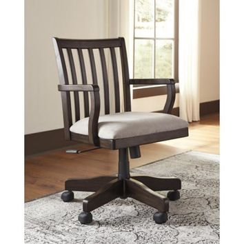 H636-01A Townser Home Office Swivel Desk Chair - Grayish Brown - Free Shipping!
