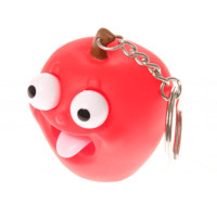 Rubber Apple Popping Tongue Keychain