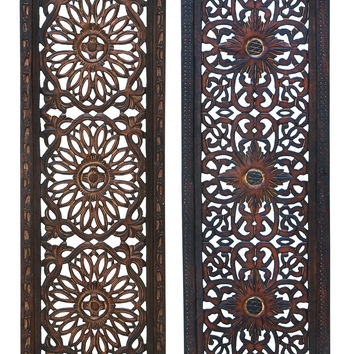 """Elegant Wall Sculpture - Wood Wall Panel 2 Assorted 36""""H, 12""""W"""